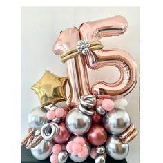 15th Birthday Decorations, Balloon Decorations Party, Balloon Gift, The Balloon, Balloon Bouquet Delivery, Cool Paper Crafts, Happy Birthday Balloons, Boquet, Kids Decor