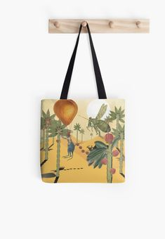 ' Tote Bag by HeartActivation Large Bags, Small Bags, Cotton Tote Bags, Reusable Tote Bags, Weird And Wonderful, Medium Bags, Art History, Kangaroo, Creative Design