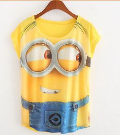 Women Men Despicable me Minions Men In Yellow T-Shirt Funny Cool Gift Free Ship