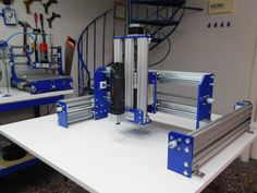 Yoda is a heavy duty, large cutting area cnc router Arduino Cnc, Workshop Layout, Cnc Router Machine, Cad Cam, Diy Cnc, Cnc Projects, 3d Printer, Woodworking Projects, Electronics