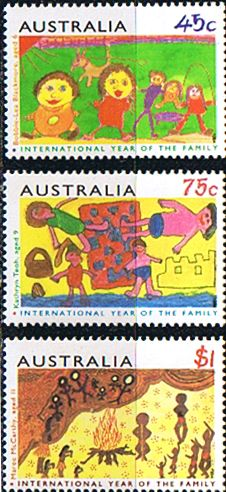 Australia 1994 International Year of the Family Fine Mint SG 1450 2 Scott 1372 4  Other Australian Stamps HERE