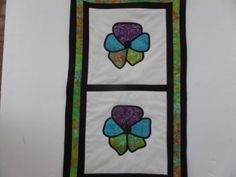 Stained Glass Quilt Tutorial - Pansy Wall Hanging - YouTube