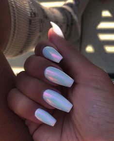 57 lovely nail acrylic designs and ideas to wear this summer 67 producttall. Best Acrylic Nails, Summer Acrylic Nails, Acrylic Nail Designs, Holographic Nails Acrylic, Acrylic Nails With Design, Fake Nail Designs, Summer Nails, Acrylic Nails Chrome, Acrylic Nails Pastel