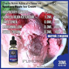 Charlie Noble's, Raspberry Ripple Ice Cream
