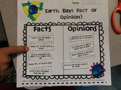 Fact and Opinions-Earth Day (Freebie!)