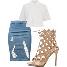 A fashion look from January 2015 featuring T By Alexander Wang tops, Frame Denim skirts and Gianvito Rossi pumps. Browse and shop related looks.