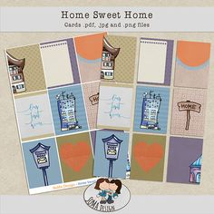 SoMa Design: Home Sweet Home - Cards House Of Cards, Digital Scrapbooking, Sweet Home, House Design, Kit, House Beautiful, Architecture Illustrations, Design Homes
