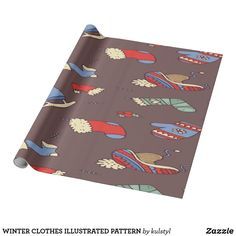 Wrap up your gifts with Winter wrapping paper from Zazzle. Great for any occasion! Choose from thousands of designs or create your own! Winter Clothes, Winter Outfits, Create Yourself, Create Your Own, Christmas Design, Wraps, Paper, Illustration, Cute
