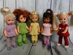 "СП ""Гардеробчик для мини"" | KasatkaDollsFashions - вязаная одежда для кукол"