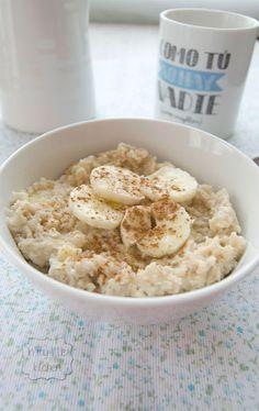 Porridge con plátano y canela