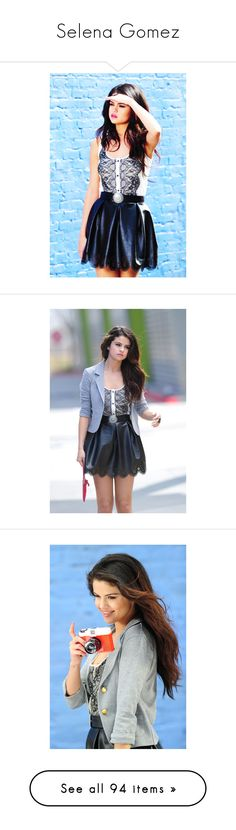 """""""Selena Gomez"""" by simina650 ❤ liked on Polyvore featuring selena gomez, selena, celebs, blue, pictures, pretty girls, magazine, gomez., people and faces"""