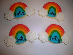 Rainbow Sugar Cookies by pinzy4 on Etsy, $18.00