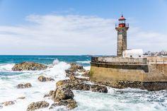 #ocean #lighthouse #sunny #waves #portugal #porto