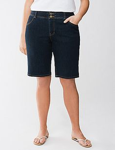 Bermuda short with Tighter Tummy Technology Lane Bryant Tight Tummy, Skin Tight, Trendy Plus Size Clothing, Plus Size Outfits, Slouchy Outfit, Modest Shorts, Plus Size Looks, Warm Weather, Fashion Outfits