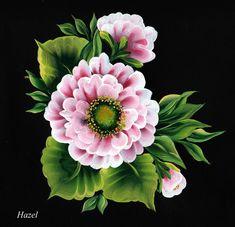 One Stroke Pink Rose. Painted by Hazel Lynn.