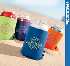 Take it with you! The Collapsible KOOZIE® Can Kooler (45081) folds so quickly you can put it in your pocket, purse and more!