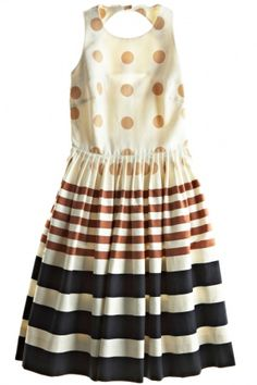 St. Barth Calypso. World Fair Dress. Love the combo of polka dots and stripes.