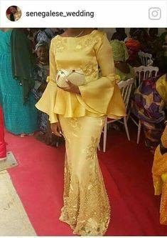 Vintage Skirt Round Neck Mermaid Two Piece Sets African Lace Styles, African Lace Dresses, African Fashion Dresses, Fashion Outfits, African Style, African Attire, African Wear, African Print Fashion, Africa Fashion