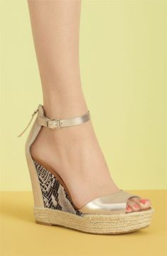 Fun summer wedge sandals!