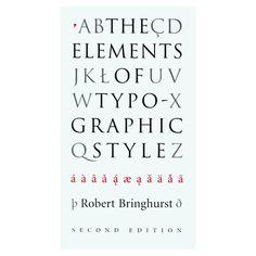The Elements of Typographic Style, Robert Bringhurst