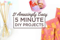21 Amazingly Easy 5 Minute DIY Projects! (It's in Spanish but still easy to figure out!)