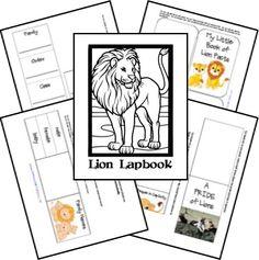 FREE Lion Lapbook and Unit Study