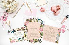 Vietnamese Floral Wedding Invitation