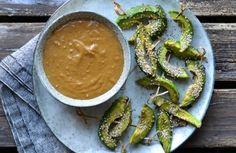 Avocado Satay with Creamy Peanut Butter Sauce - a tasty love story