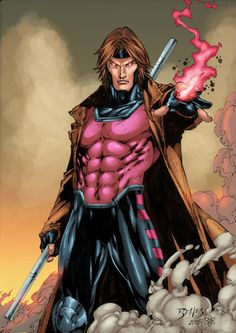Gambit by Ed Benes. I lurrrvvve me some Gambit! Rawr.
