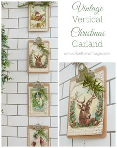 Vintage Vertical Christmas Garland | So Much Better With Age
