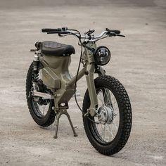 The Shanghai Customs eCub 2 retro electric motorcycle #motobikes
