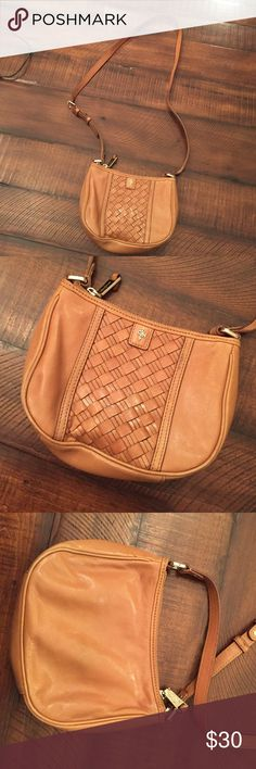 """Cole Haan cross body purse Great used condition. Leather is still in very good condition. I am 5'7"""" and the bag as a cross body hits right at my hip or a little bit below. Strap is adjustable. Zipper closure. Inside zipper pocket. Cole Haan Bags Crossbody Bags"""