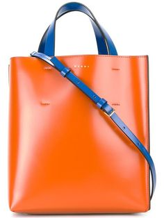 MARNI Small Museo Tote. #marni #bags #tote #leather #lining #shoulder bags #hand bags #cotton #