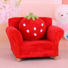 Classic Strawberry Upholstered Toddler Chair With Pillow (SXBB 303)    Efull.com. Toddler ChairSofa ManufacturersKids ...