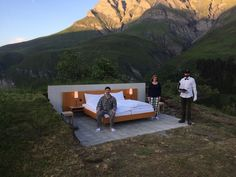 Guests are invited to sleep under the stars in this open-air hotel, which is located feet above sea level in the mountains of Graubünden Hotel Et Spa, Air Hotel, Open Hotel, Hotels And Resorts, Best Hotels, Alpine Hotel, Unusual Hotels, Hotel Concept, Sleeping Under The Stars