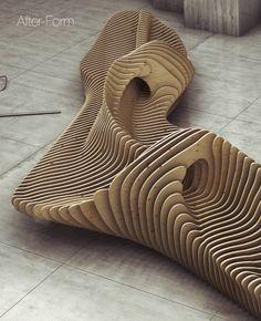 Urban Furniture, Wooden Furniture, Furniture Plans, Furniture Design, Funky Furniture, Chair Design, Parametric Architecture, Parametric Design, Architecture Design