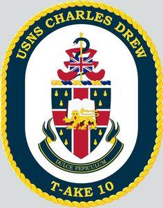 USNS Charles Drew (T-AKE-10) crest