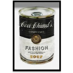 The Oliver Gal Fashion Soup Mirror Art takes a page out of Warhol's book with its classic soup can imagery. An homage to Coco Chanel and Karl Lagerfeld,. Style Coco Chanel, Coco Chanel Mode, Mademoiselle Coco Chanel, Coco Chanel Fashion, Chanel Art, Chanel Logo, Canvas Art, Canvas Prints, Framed Prints