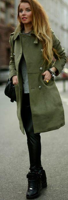 Hypnotizing Fashion - the fashion BLOG | Dressup Street Style: Sports military look #hypnotizing