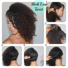 Beautiful Sleek Low Twist Tutorial for Natural Hair !