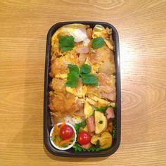 おはようございます(^O^)/ 今日は、ストレートな男子弁当♪ 重いです - 84件のもぐもぐ - かつ丼*弁当♪ by hirominno