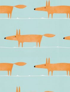 Mr Fox Auburn, a feature wallpaper from Scion, featured in the Spirit & Soul collection.