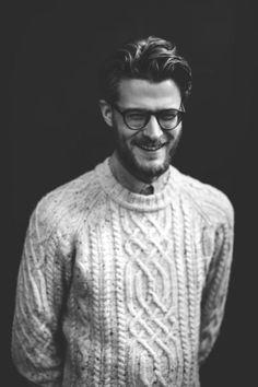 Look, Pretend Boyfriend is wearing the expertly crafted sweater I Pretend Knitted for him!