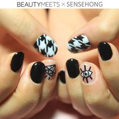 click below to see details: http://www.beautymeets.com/posts/sensehong-nail-column-no7-evileye #nails #sensehong