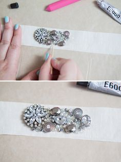 DIY // How to make a rhinestone bridal sash!