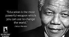 """""""Η εκπαίδευση είναι το πιο δυνατό όπλο για να αλλάξεις τον κόσμο!"""" Σήμερα τιμούμε τον Νέλσον Μαντέλα, την εμβληματική μορφή του αγώνα για την εξάλειψη των ανισοτήτων και των διακρίσεων! Καλημέρα! #iny #ieknewyork #monday #nelsonmandela"""