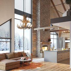 Anderstam fjällhus som i samarbete med Jens Byggmark skapat en lyxig lodge