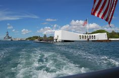The USS Arizona memorial in Pearl Harbor. God Bless America!