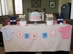 Love the banner and cake... i wanna bake a cake & have my family/closest over when i tell them what it is :D
