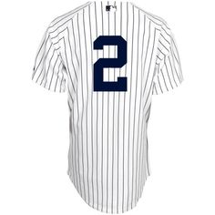 MLB NYヤンキース ユニフォーム#2デレク・ジーター Authentic Player ホワイト ホーム